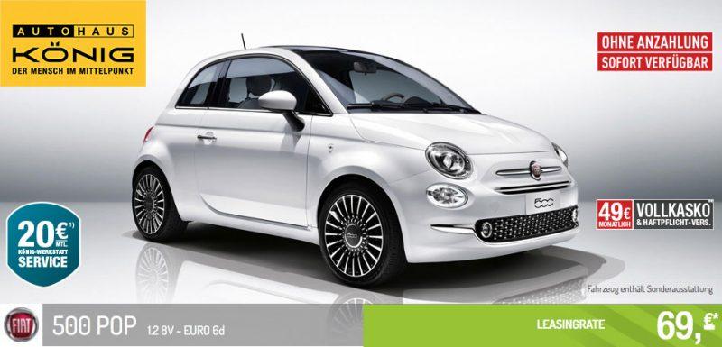 Fiat 500 POP 1.2 8V - EURO 6d Leasing