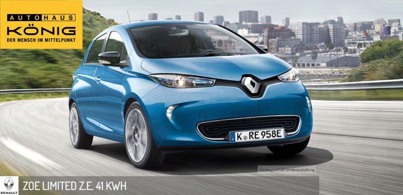 Renault Zoe LimitedLeasing Deal Angebot